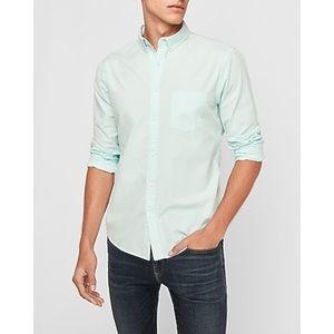 Express Garment Dyed Button Collar Shirt NWT